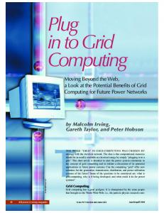 Plug in to grid computing - Power and Energy Magazine, IEEE