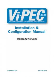 PlugIn Installation Manual - Vi-PEC Engine Management