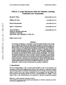 PMLB: A Large Benchmark Suite for Machine Learning Evaluation and ...