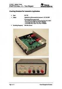 PMP7233 Test Results - Texas Instruments