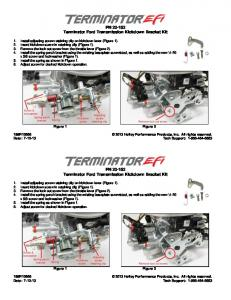 PN 20-152 Terminator Ford Transmission Kickdown Bracket Kit PN ...