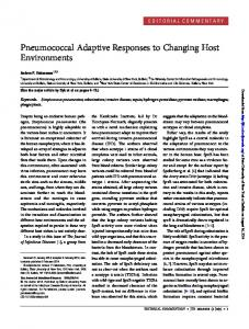 Pneumococcal Adaptive Responses to Changing ...