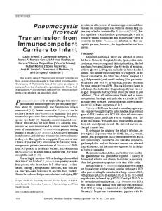 Pneumocystis jirovecii - Centers for Disease Control and Prevention