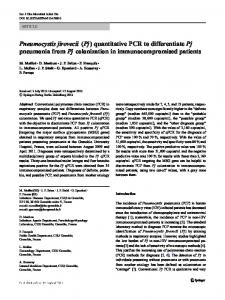 Pneumocystis jirovecii (Pj) quantitative PCR to ... - CHU Grenoble Alpes