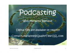 Podcasting_Slides-MR.. - QualityTime-ESL