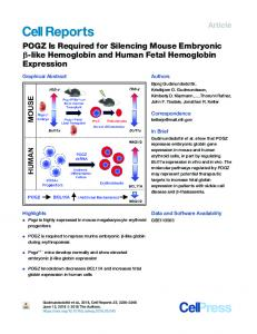 POGZ Is Required for Silencing Mouse Embryonic