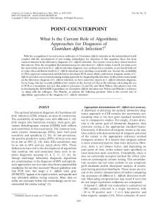 point-counterpoint - Journal of Clinical Microbiology - American ...