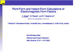 Point-Form and Instant-Form Calculations of