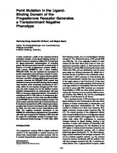 Point Mutation in the Ligand- Binding Domain of the Progesterone ...