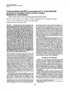 Point mutations and DNA rearrangements 5' to the ... - Europe PMC