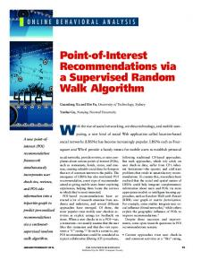 Point-of-Interest Recommendations via a Supervised ... - IEEE Xplore