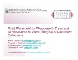 Point Placement by Phylogenetic Trees and its