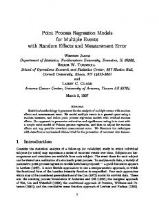 Point Process Regression Models for Multiple ... - Semantic Scholar