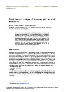 Point thermal bridges of insulated pitched roof structures