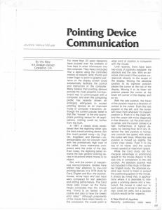 Pointing Device Communication - Microsoft Research