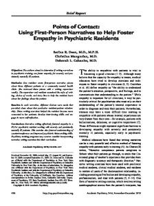 Points of Contact: Using First-Person Narratives to ... - Springer Link