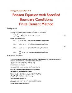 Poisson  Equation  with  Specified   Boundary