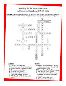 Poland Crossword Puzzle Answers - Central Missions