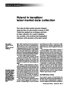 Poland in transition: labor market data collection - Bureau of Labor ...