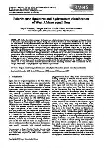 Polarimetric signatures and hydrometeor ... - Wiley Online Library