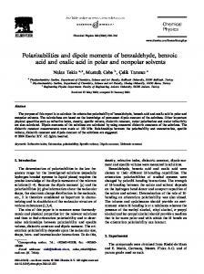 Polarizabilities and dipole moments of benzaldehyde ...