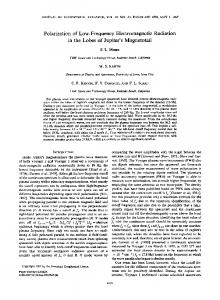 Polarization of Low-Frequency Electromagnetic Radiation in the ...