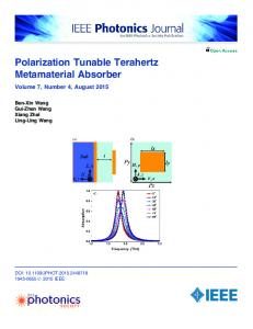 Polarization Tunable Terahertz Metamaterial Absorber - IEEE Xplore