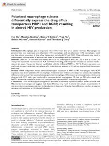 Polarized macrophage subsets differentially express ... - SAGE Journals
