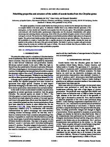 Polarizing properties and structure of the cuticle of ... - Semantic Scholar