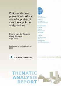 Police and crime prevention in Africa - International Centre for the ...