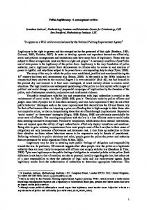 Police legitimacy: A conceptual review - SSRN