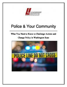 Police & Your Community: What You Need to Know to Challenge ...