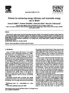 Policies for advancing energy efficiency and renewable ... - IRENA