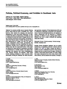 Policies, Political-Economy, and Swidden in ... - BioMedSearch