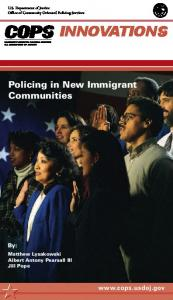 Policing in New Immigrant Communities