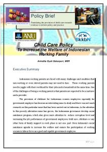 Policy Brief Child Care Policy