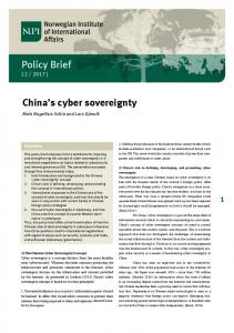 Policy Brief China's cyber sovereignty - bibsys brage