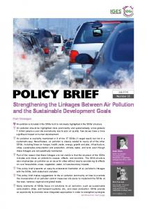 policy brief - IGES Publication Database