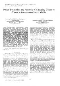Policy Evaluation and Analysis of Choosing Whom to ... - IEEE Xplore