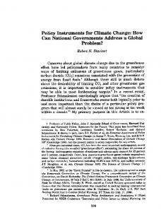 Policy Instruments for Climate Change - The Belfer Center for Science ...