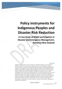 Policy instruments for Indigenous Peoples and