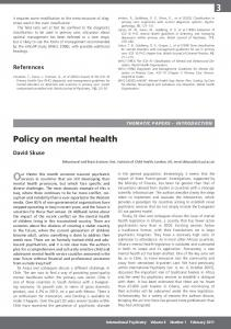 Policy on mental health