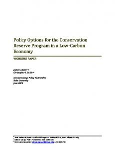 policy options for the conservation reserve program ... - Nicholas Institute