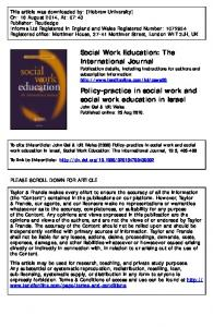 Policy-practice in social work and social work
