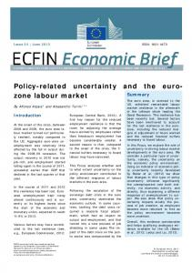 Policy-related uncertainty and the euro-zone labour market