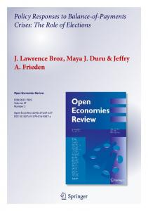 Policy Responses to Balance-of-Payments ... - Scholars at Harvard