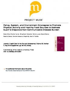 Policy, System, and Environment Strategies to ...