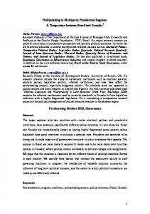 Policymaking in Multiparty Presidential Regimes
