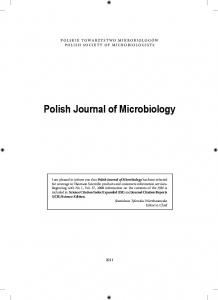 Polish Journal of Microbiology
