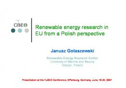 Polish potential in renewable energy research